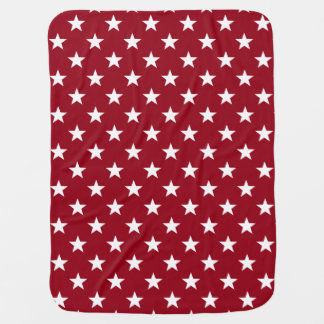 School Days Red White Blue Stars Personalized Baby Blanket