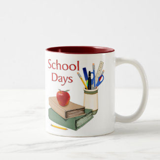 School Days Still Life Two-Tone Coffee Mug