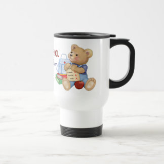School Days Teddy - Preschool Teacher 15 Oz Stainless Steel Travel Mug