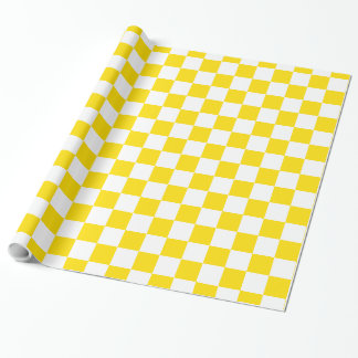 School Days Yellow and White Checkerboard