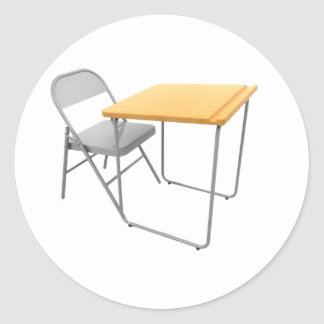 School Desk and Chair Stickers