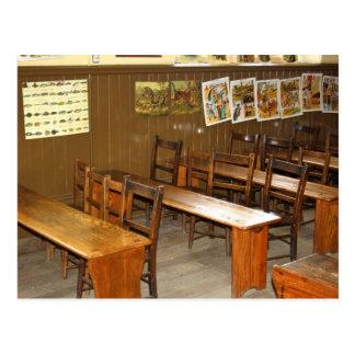School Desks and Chairs Postcard