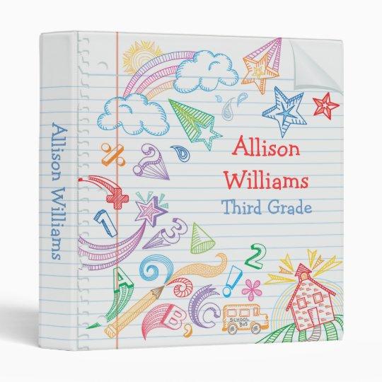 School Doodles Notebook Binder