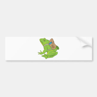 School Frog Bumper Sticker