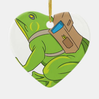 School Frog Ceramic Ornament