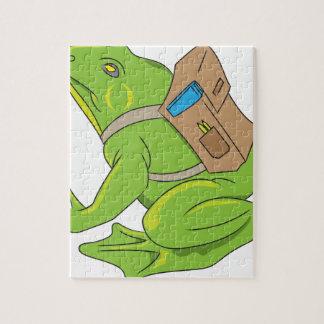 School Frog Jigsaw Puzzle