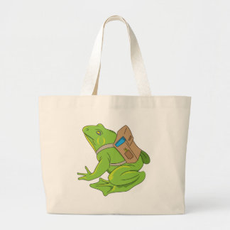 School Frog Large Tote Bag