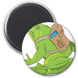 School Frog Magnet