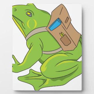 School Frog Plaque