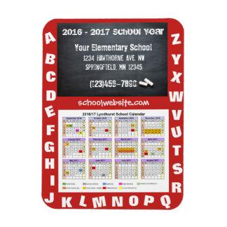 School Fundraising Calendar & Chalkboard Rectangular Photo Magnet