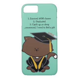 School Graduation Cap and Gown Cat iPhone Case