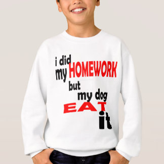 school homework summer quote diligent lazy dog bla sweatshirt