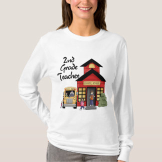 School House 2nd Grade Teacher Tshirts and Gifts