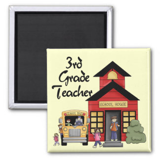 School House 3rd Grade Teacher Tshirts and Gifts Magnet