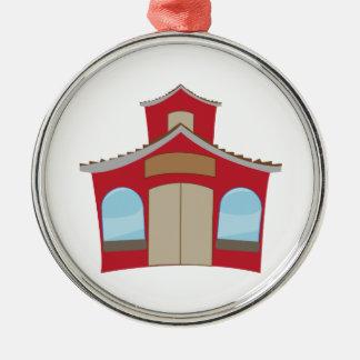 School House Metal Ornament
