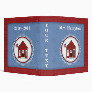 School House Personalized Photo Album Binders