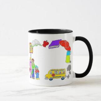 School Icons Border Mug