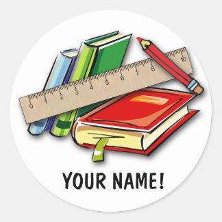 SCHOOL ID LABELS! CLASSIC ROUND STICKER