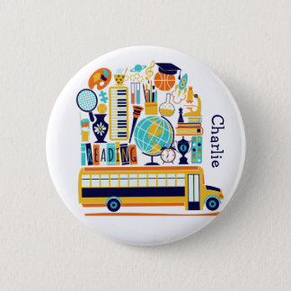 School Illustrations custom name button