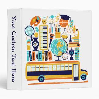 School Illustrations custom text binders