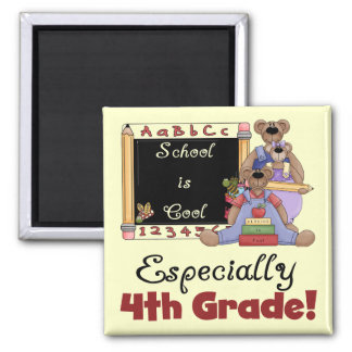 School is Cool 4th Grade Tshirts and Gifts Magnet