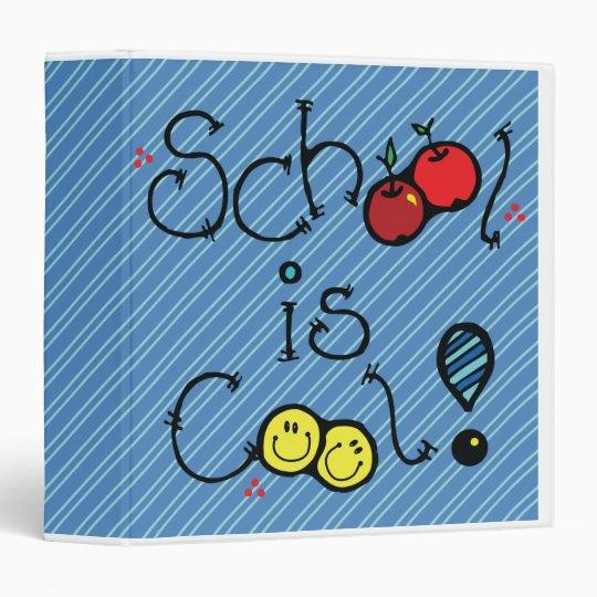 school is cool blue notebook 3 ring binder