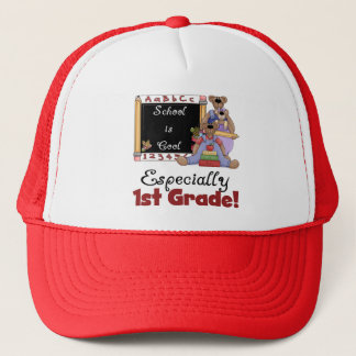 School is Cool Especially 1st Grade Trucker Hat
