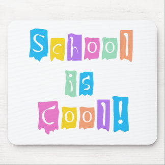 School is Cool Rainbow Colors Mouse Pad
