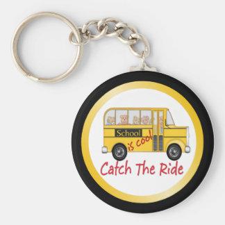 School is Cool School bus Keychain