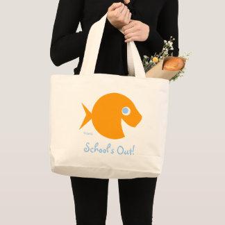 School Is Out Cartoon Goldfish Teacher Beach Bag