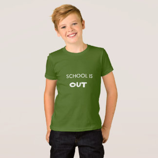 SCHOOL IS OUT. GREEN t-shirt