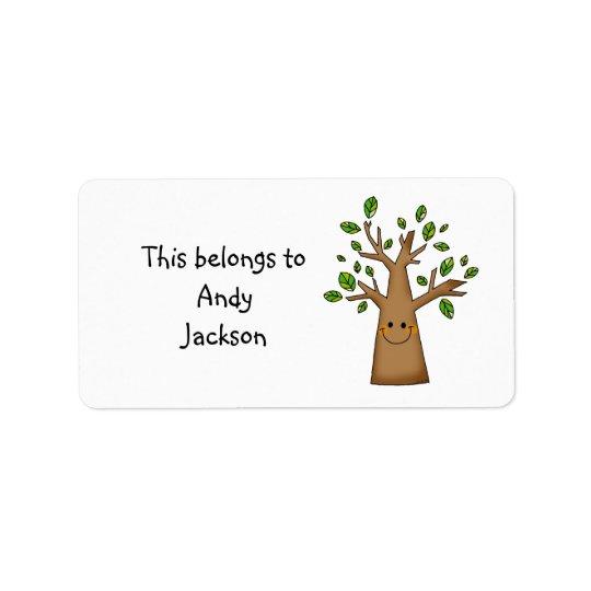 School Labels ( cute tree )