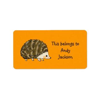 School Labels ( hedgehog )