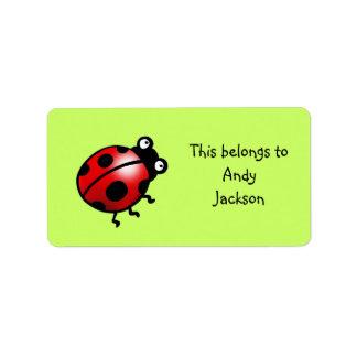 School Labels ( ladybug )