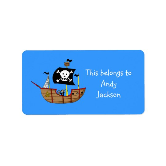 School Labels ( pirate ship )