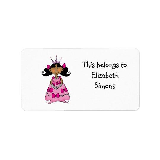 School Labels (princess)