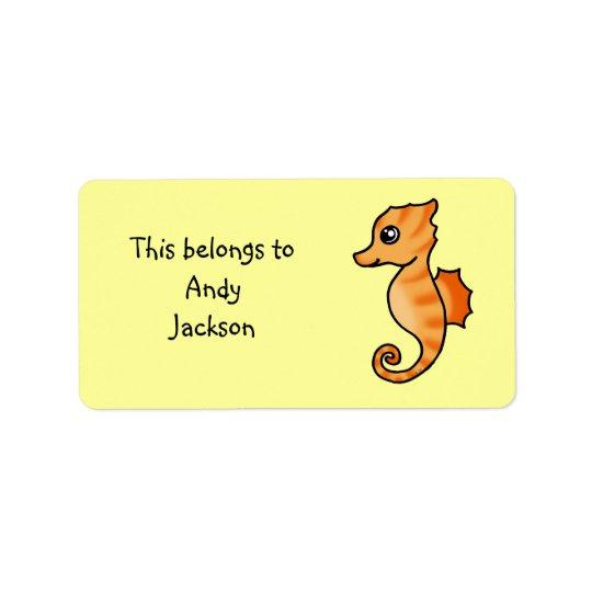 School Labels ( seahorse )