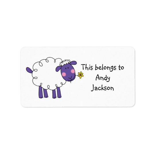 School Labels ( sheep )