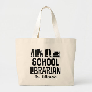 School Librarian Personalized Book Tote Bag
