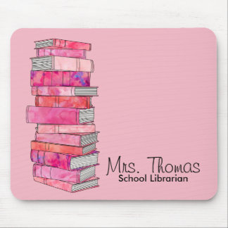 School Librarian Personalized Mousepad (Pink)