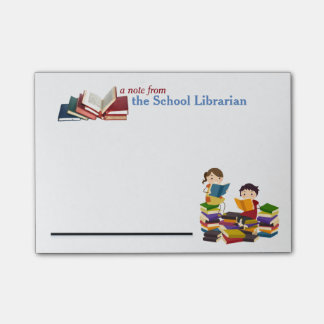 School Librarian Post-it Notes