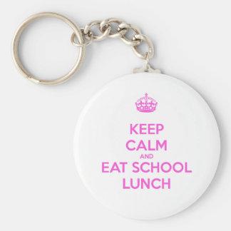 School Lunch Lady Loves Nutrition Keychain