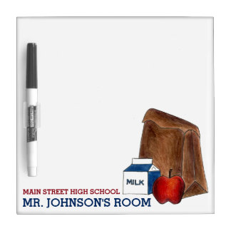 School Lunch Personalized Classroom Teacher Gift Dry Erase Board