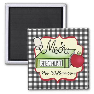 School Media Specialist - Gray Gingham Magnet