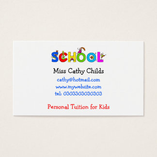 School, Miss Cathy Childs, Business Card