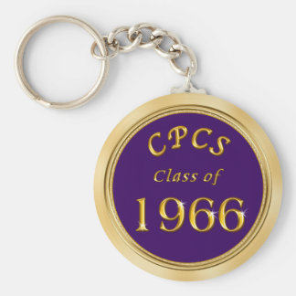 School Name, Colors and Year Class Reunion Favors Basic Round Button Keychain
