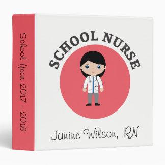 School Nurse in Red Circle 3 Ring Binder