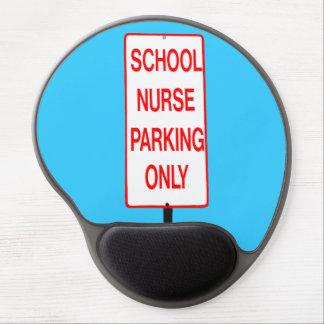 School Nurse Parking Sign Gel Mouse Pad