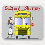 School Nurse Stick People Design Mousepad