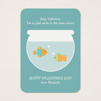 School of Fish Classroom Valentines Business Card